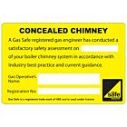 Concealed Chimney Labels 100x65mm