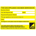 Gas Appliance Serviced By Labels 100x65mm