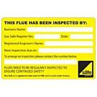 Flue Inspection Labels 100x65mm