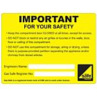 Keep Compartment Door Closed Labels 100x75mm