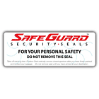 SafeGuard Luggage Seal Labels 122x45mm