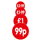 Red 50mm Price Labels