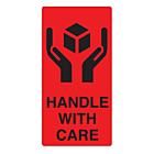 Handle With Care Labels 75x150mm