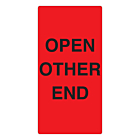 Open Other End Labels 75x150mm