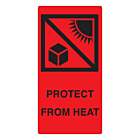 Protect From Heat Labels 75x150mm
