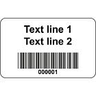 Code 128 Barcode Labels Vinyl 40x25mm