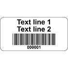 Code 39 Barcode Labels Vinyl 40x20mm