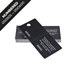 Black Cloakroom Tags Numbered 501-600