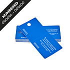 Blue Cloakroom Tickets Numbered 001-100
