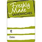 Green Sandwich Labels 50x73mm
