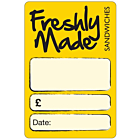 Yellow Sandwich Labels 50x73mm