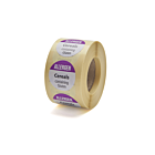 Allergen Cereals Labels 25mm Permanent