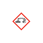 GHS & CLP Corrosive Labels 10x10mm