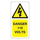 110 Volts Labels 25x50mm