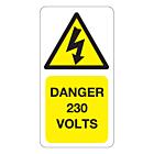 230 Volts Labels 33x63mm