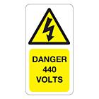 440 Volts Labels 33x63mm