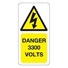 3300 Volts Labels 25x50mm