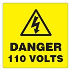 Danger 110 Volts Labels 50x50mm
