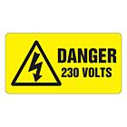 Danger 230 Volts Labels 63x33mm