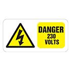 Danger 230 Volts Labels 100x50mm