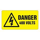 Danger 400 Volts Labels 63x33mm