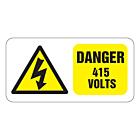 Danger 415 Volts Labels 50x25mm