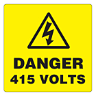 Danger 415 Volts Labels 50x50mm