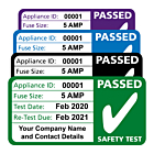 Personalised 3rd Edition PAT Test Passed Labels 50x25mm