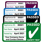 Personalised 4th Edition PAT Test Passed Labels 50x25mm