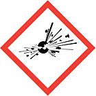 GHS & CLP Explosive Labels 100x100mm