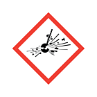 GHS & CLP Explosive Labels 50x50mm