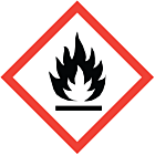 GHS & CLP Flammable Labels 100x100mm