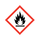 GHS & CLP Flammable Labels 50x50mm