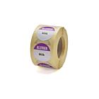 Allergen Milk Labels 25mm Permanent