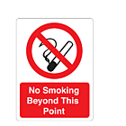 No Smoking Beyond This Point Stickers 75x100mm