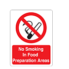 No Smoking In Food Preparation Areas Labels (75x100mm)