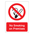 No Smoking On Premises Stickers 75x100mm