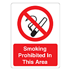 Smoking Is Prohibited Stickers 75x100mm