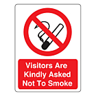 Visitors Are Kindly Asked Not To Smoke Labels (75x100mm)