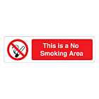 This Is A No Smoking Area Labels (150x43mm)