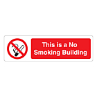 This Is A No Smoking Building Labels (150x43mm)