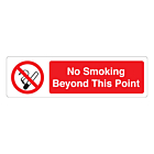 No Smoking Beyond This Point Labels (150x43mm)