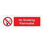 No Smoking Flammable Labels (150x43mm)