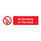 No Smoking In This Area Labels (150x43mm)