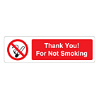 Thank You! For Not Smoking Labels (150x43mm)