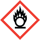 GHS & CLP Oxidiser Labels 100x100mm