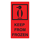 Keep From Frozen Labels 75x150mm