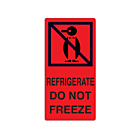 Refrigerate Do Not Freeze Labels 75x150mm