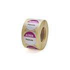 Allergen Peanuts Labels 25mm Permanent