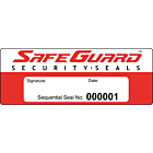 SafeGuard Numbered Security Seal Labels 122x45mm